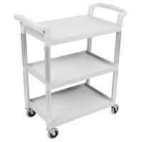 Speckled Gray Three Shelf Utility Cart
