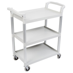 Cambro Speckled Gray Three Shelf Utility Cart