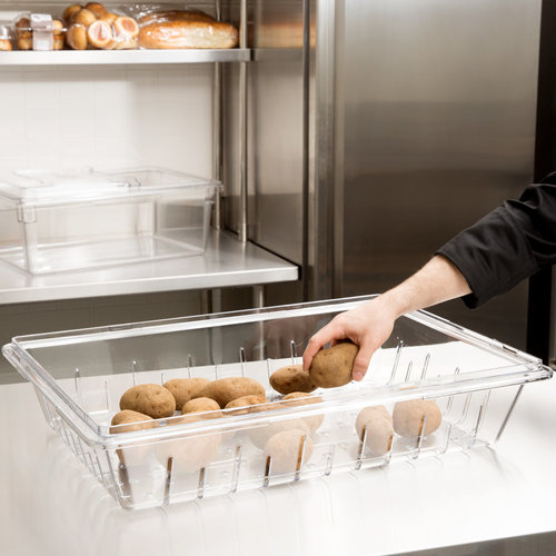 Cambro Clear Plastic Food Drain Box / Colander