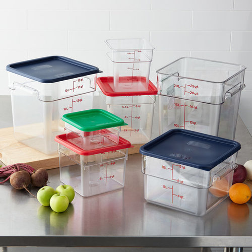 Cambro Clear Square Polycarbonate Food Storage Container