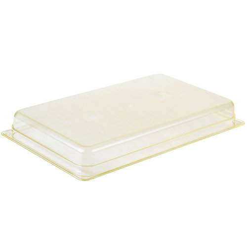 "Cambro Full Size Amber High Heat Plastic Food Pan | 2 1/2"" Deep | 12HP150 | H-Pan™"