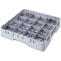 """Soft Gray Customizable 16 Compartment Full Size Cup Rack 
