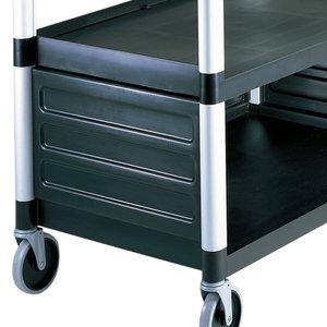 Cambro Black Single Shelf Panel Set