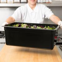 Full Size Black Polycarbonate Food Pan| Camwear | Different Pan Depth