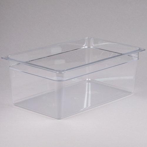 "Cambro Full Size Clear Polycarbonate Food Pan | 8"" Deep| 18CW135 | Camwear"