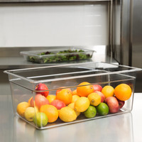 "Full Size Clear Polycarbonate Food Pan | 8"" Deep"