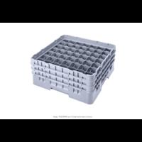 "Soft Gray Camrack Customizable 49 Compartment 3 5/8"" Glass Rack"