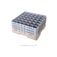 "Beige Camrack Customizable 36 Compartment 3 5/8"" Glass Rack"