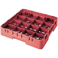 """High Customizable Red 16 Compartment Glass Rack 