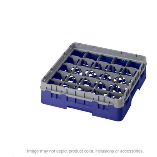 Cambro High Customizable Navy Blue 25 Compartment Glass Rack | 3 5/8""