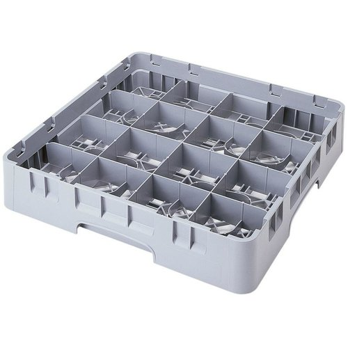 Cambro Soft Gray Customizable 16 Compartment Full Size Cup Rack | Camrack 4 1/4""