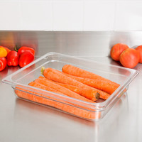 1/2 Size Clear Polycarbonate Food Pan | Camwear | Different Pan Depth