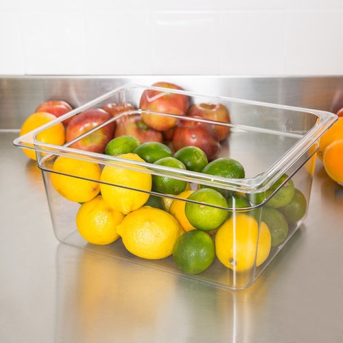 Cambro 1/2 Size Clear Polycarbonate Food Pan | Camwear | Different Pan Depth