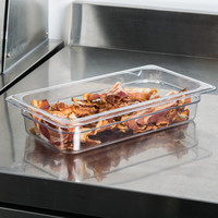 1/3 Size Clear Polycarbonate Food Pan | Camwear | Different Pan Depth