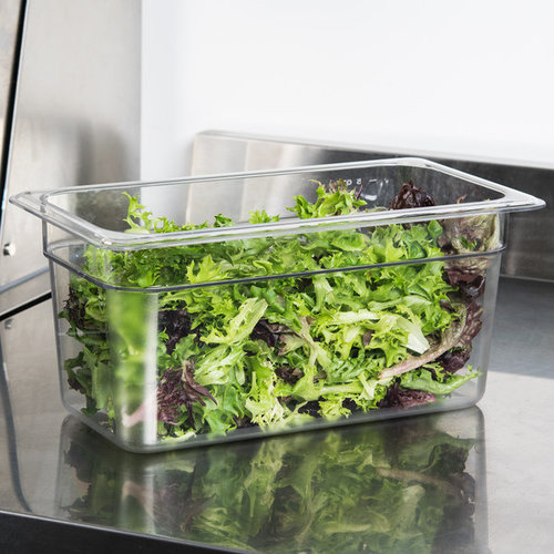 Cambro 1/3 Size Clear Polycarbonate Food Pan | Camwear | Different Pan Depth