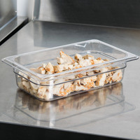 1/4 Size Clear Polycarbonate Food Pan | Camwear | Different Pan Depth