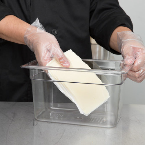 Cambro 1/4 Size Clear Polycarbonate Food Pan | Camwear | Different Pan Depth