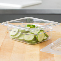 1/6 Size Clear Polycarbonate Food Pan | Camwear | Different Pan Depth