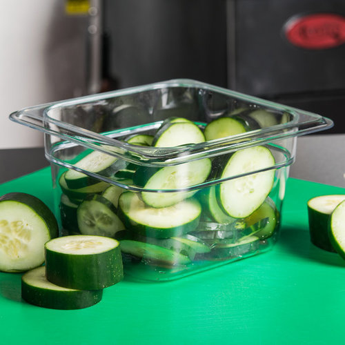 Cambro 1/6 Size Clear Polycarbonate Food Pan | Camwear | Different Pan Depth