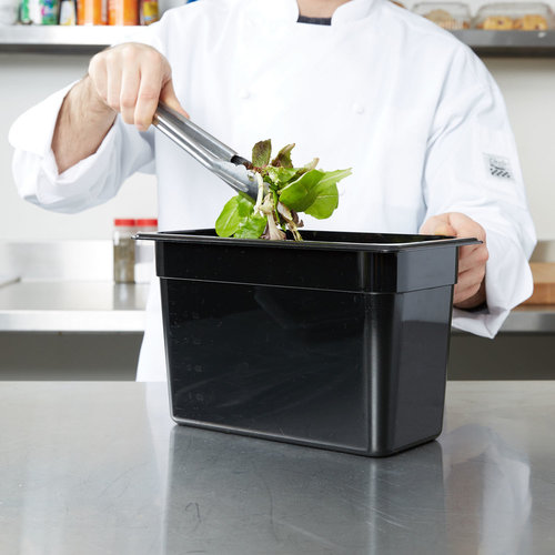 Cambro Full Size Black Polycarbonate Food Pan| Camwear | Different Pan Depth