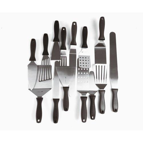 Paderno Perforated hamburger turner spatula -Stainless steel, polypropylene
