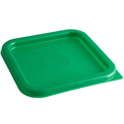 Cambro Kelly Green Square Polyethylene Lid for 2 and 4 Qt. Food Storage Containers | SFC2452