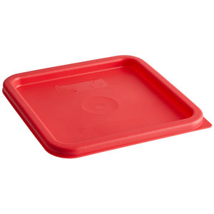 Cambro Winter Rose Square Polyethylene Lid for 6 Qt. and 8 Qt. Food Storage Containers