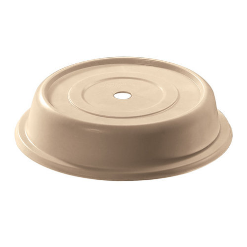 """Cambro 11"""" Beige Camcover Plate Cover 