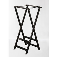 Black Folding Wood Tray Stand | 81.5x42x42 Cm