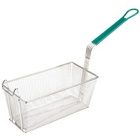 Nickel Plated | Rectangular Metal Fryer Basket