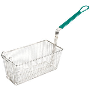 TableCraft Nickel Plated | Rectangular Metal Fryer Basket