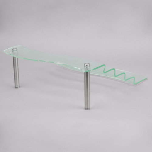 "TableCraft Cristal Collection 5 Step Waterfall Acrylic Display Riser | AW5 | 16 1/2"" x 21"" x 6 1/4"""