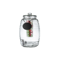 2.5 Gallon Beehive Glass Beverage Dispenser with  Infuser