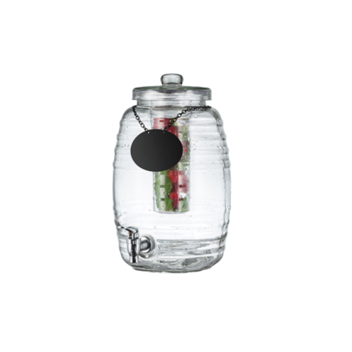 TableCraft 2.5 Gallon Beehive Glass Beverage Dispenser with  Infuser