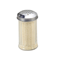 12 Ounce Fluted Glass Shaker with Stainless Steel Perforated Top