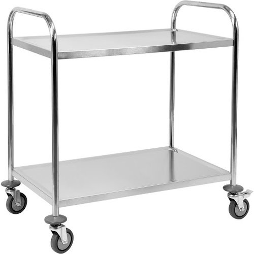Round tube service trolley 2 tier
