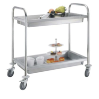 Round tube Collecting trolley 2 Tier