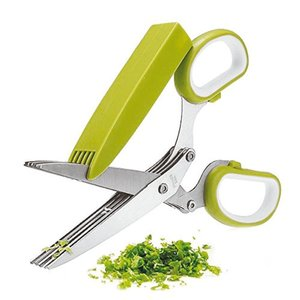 Paderno Herb Scissors | 5 Blades | Green