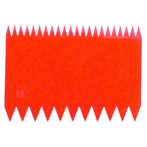 Paderno Dough Scrapers | Red Serrated Two-sided