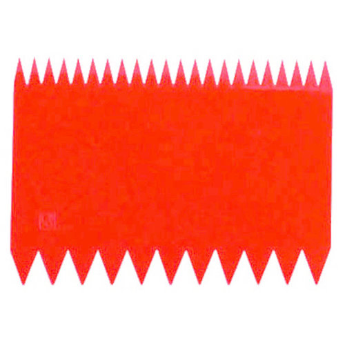 Paderno Dough Scrapers |  Serrated Two-sided | Polypropylene | 10 pcs | Red | 47621-07
