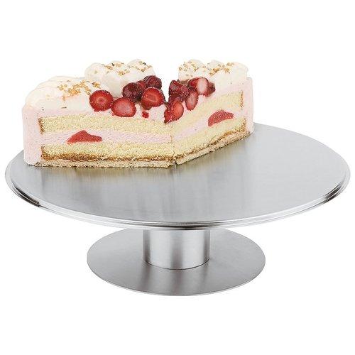 Paderno Cake Stand | ø 30,00 cm  |  h. 7,00 cm | Stainless steel | 47101-31