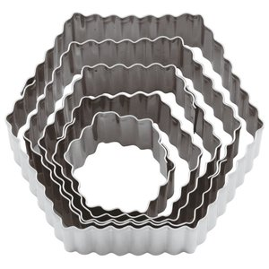 Paderno Fluted Hexagon Dough Cutter