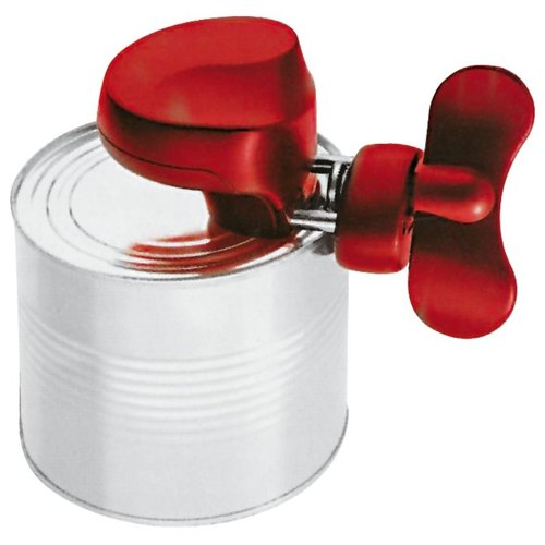 Paderno Can Opener | Stainless Steel | 12,50x8,00 cm | Red