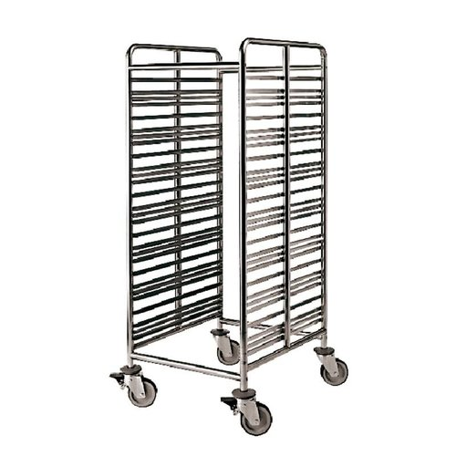Paderno Gastronorm Rack Trolley | Stainless steel | 60,00x70,00 cmxh.153,50 cm | 44807-28