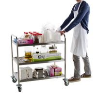 Stainless Steel 3 Shelf Utility Trolley