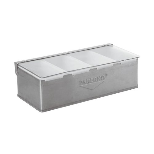 Paderno 4-Compartment | Condiment Holder | Stainless steel | 41782-04