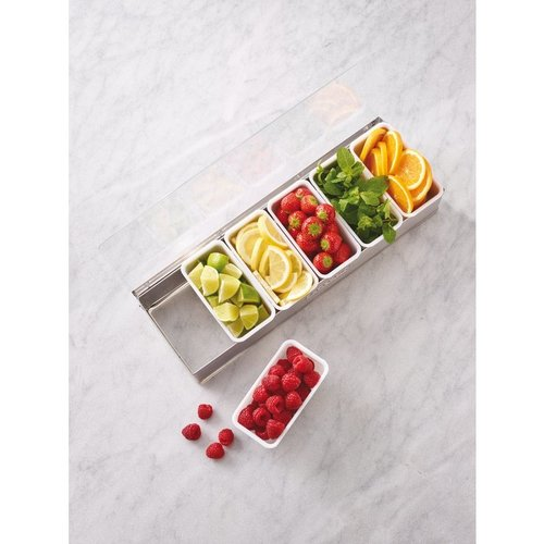 Paderno 6-Compartment   Condiment Holder   Stainless steel   41782-06