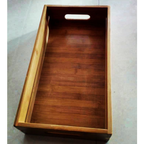 Eco-pebble Bamboo Wooden Crate | 42*40*10Cm | ECO-RS120