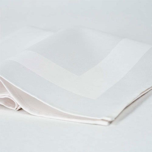 Napkin White Satin Band | 100% Cotton | 50x50cm