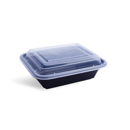 Rectangular Container Black base  with Lid